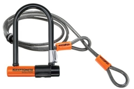 Kryptonite Bügelschloss Evo. Mini-7 + KFlex 120 cm m. Flex Frame Halter, 3500340 - 1